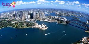 Một góc nước Úc nhìn từ trên cao