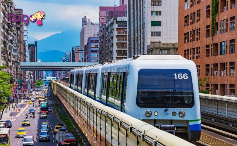 Tàu MRT là phương tiện di chuyển tiện lợi và tiết kiệm hàng đầu ở Đài Loan