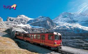 Tàu lửa cũng là một phương tiện di chuyển tiện lợi và phổ biến ở Châu Âu