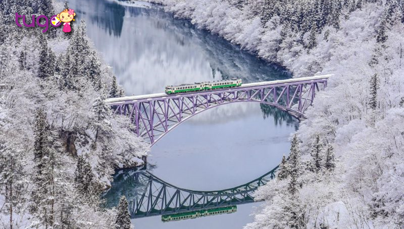 Tadami ở Fukushima là một trong những điểm đến mùa đông tuyệt đẹp ở đất nước Nhật Bản