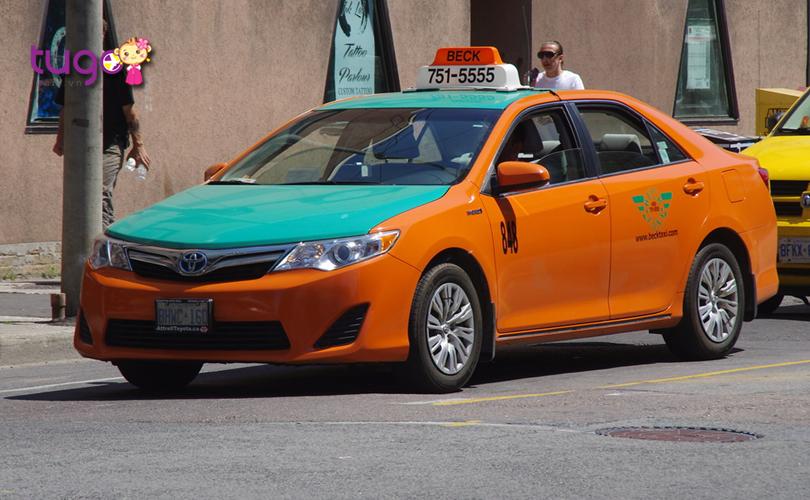 Taxi là phương tiện di chuyển khá tiện lợi vào mùa đông ở Canada