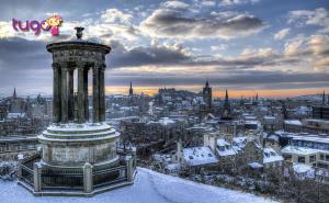 Thành phố Edinburgh yên bình, thơ mộng giữa trời đông