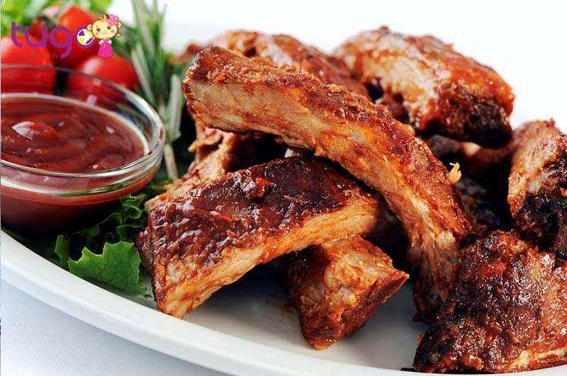 Barbecue Ribs là một trong các món ăn truyền thống của Mỹ