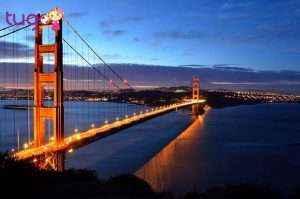 Cầu Cổng Vàng được tôn vinh là một trong bảy kì quan thế giới hiện đại