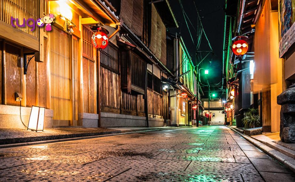 Vẻ đẹp lung linh của khu phố cổ Gion về đêm