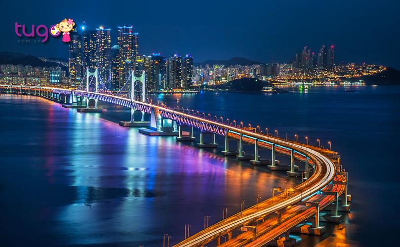 Vẻ đẹp lung linh của thành phố Busan về đêm