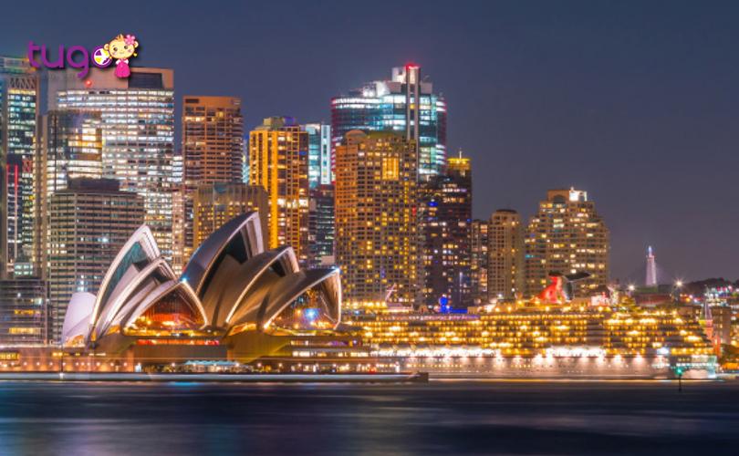 Vẻ đẹp lung linh, hiện đại của thành phố Sydney về đêm