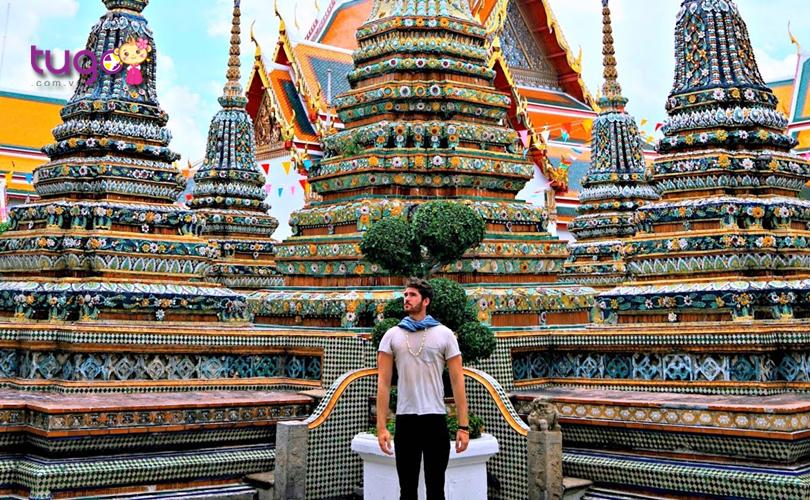 """Với vẻ đẹp ấn tượng nên chùa Wat Pho còn là một địa điểm check-in """"cực hot"""" trong thời gian gần đây"""
