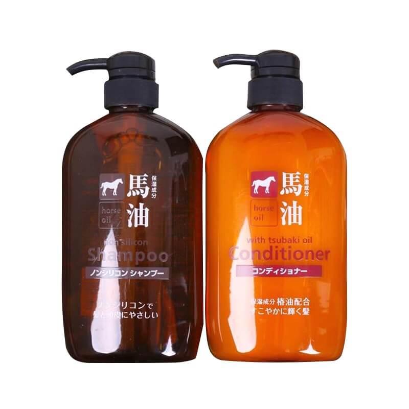 BỘ GỘI XẢ CHIẾT XUẤT MỠ NGỰA NHẬT BẢN - Tsubaki Kumano Horse Oil