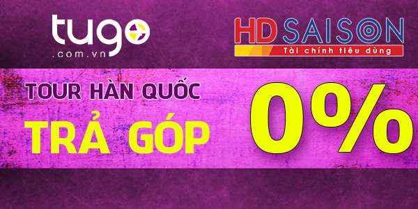 tour hàn quốc trả góp 0% tại tugo.com.vn