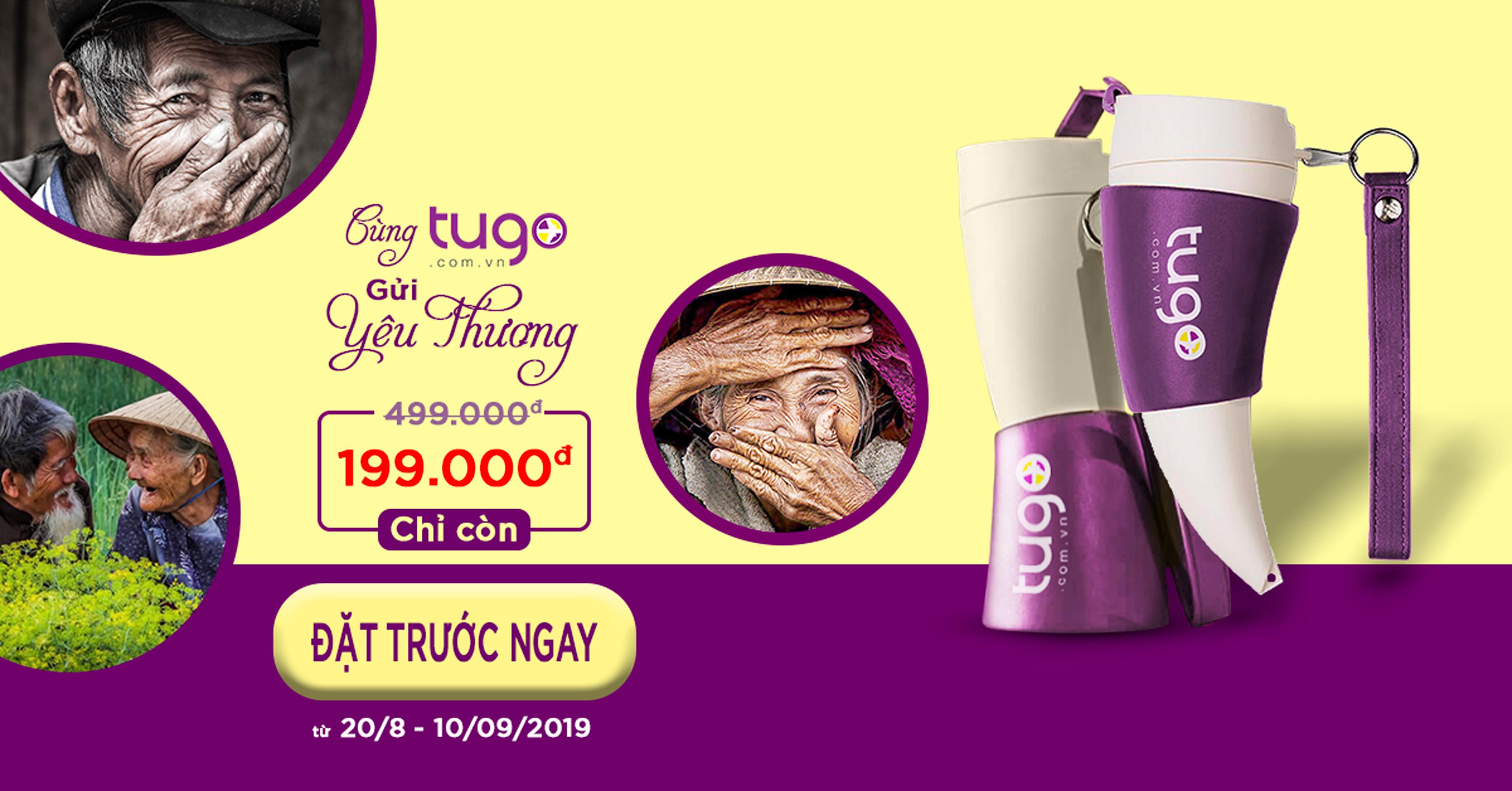 Preorder bình nước trao yêu thương cùng Tugo