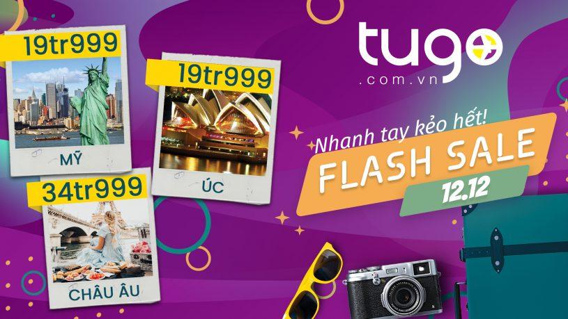 Tugo.com.vn dành nhiều khuyến mãi hấp dẫn chỉ có trong ngày 12/12