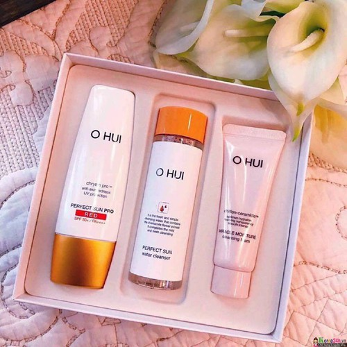 OHUI - SET KEM CHỐNG NẮNG - Perfect Sun Red SPF50+/PA+++