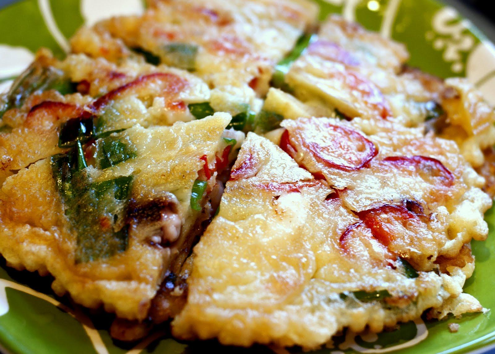 Kết quả hình ảnh cho Bánh hải sản Hàn Quốc