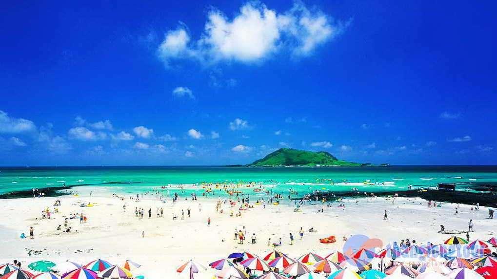 Bãi biển trong vắt ở đảo Jeju
