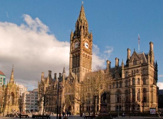 Kết quả hình ảnh cho Tòa thị chính Manchester
