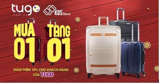 tugo hợp tác cùng vali KOS