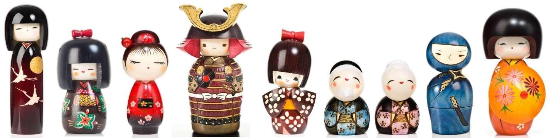Các bé nhỏ tuổi sẽ thích mê búp bê Kokeshi nhiều màu sắc