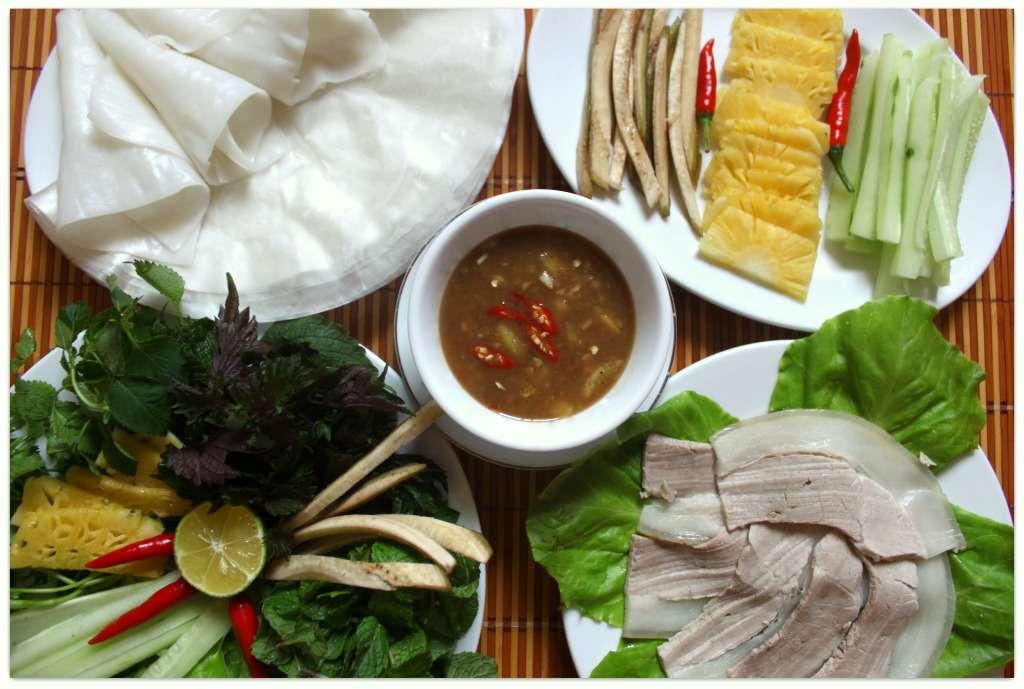 Thịt Heo cuốn bánh Tráng Đà Nẵng