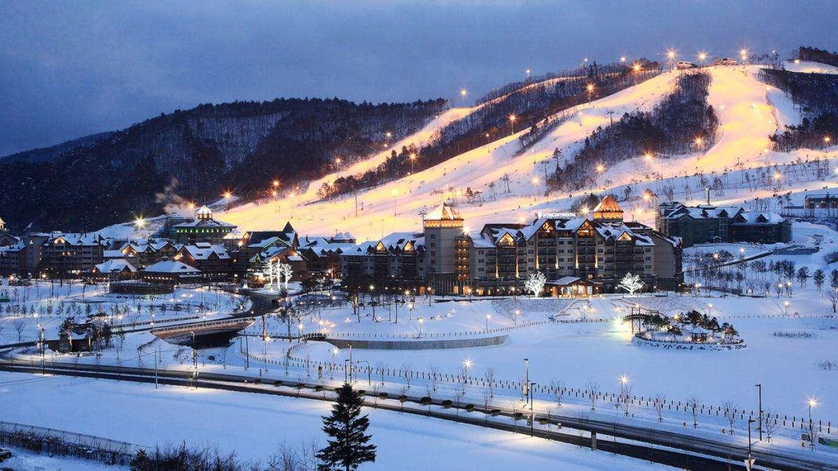 Có rất nhiều khu trượt tuyết dành cho người mới tập chơi lần đầu ở Seoul