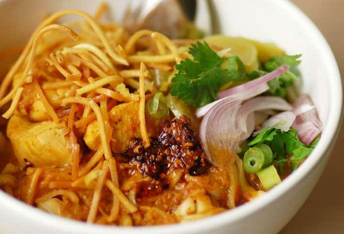 Khao Soi được cho là nổi tiếng nhất ở miền Bắc của Thái Lan