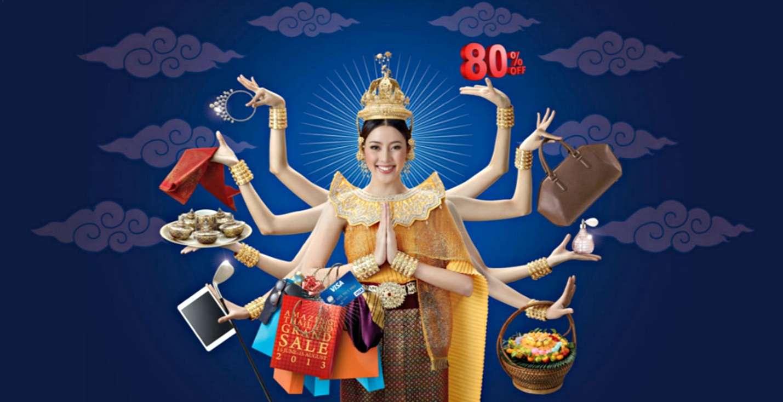 Mùa sale lớn của Thái Lan giảm tới 80%
