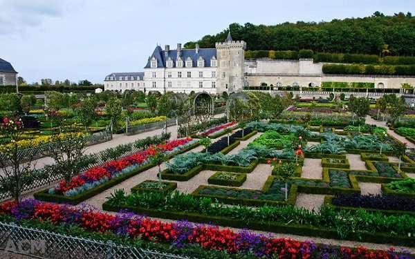 Địa điểm nổi bật nhất lâu đài Villandry là khu vườn Phục Hưng với vườn hoa và vườn rau