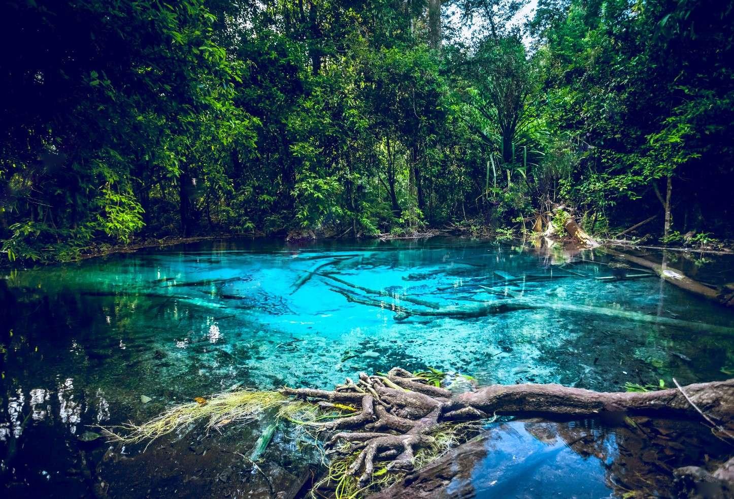 Khu vực gần hồ Blue Pool