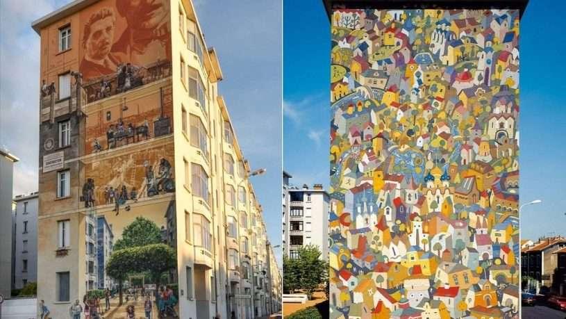 Tranh tường ở Lyon được các họa sĩ trình bày công phu, bắt mắt
