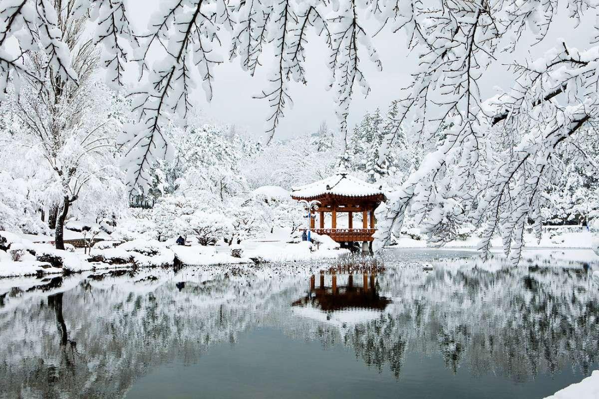 Mùa đông Hàn Quốc tuyết rơi bao phủ mọi khung cảnh