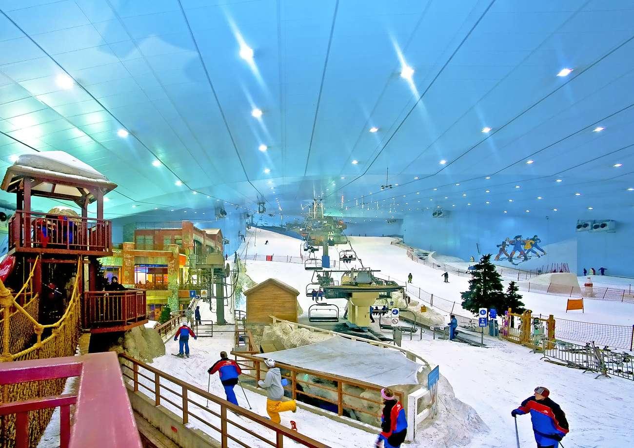 Khu trượt tuyết khổng lộ tại công viên Everland