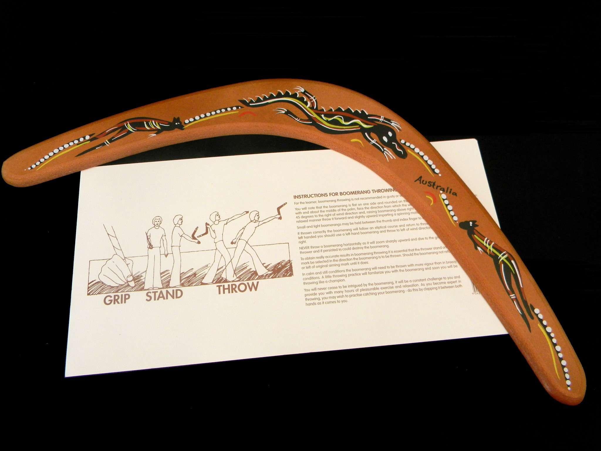 Boomerang là món quà lưu niệm từ Úc vô cùng độc đáo