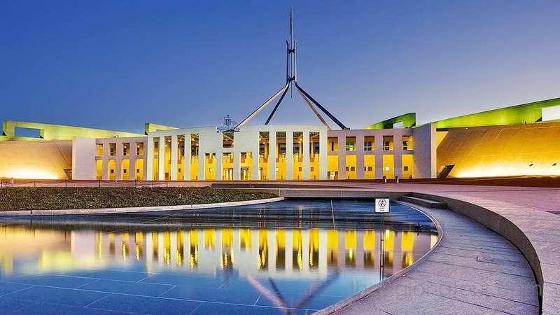 Hình ảnh của New Parliament house buổi xế chiều