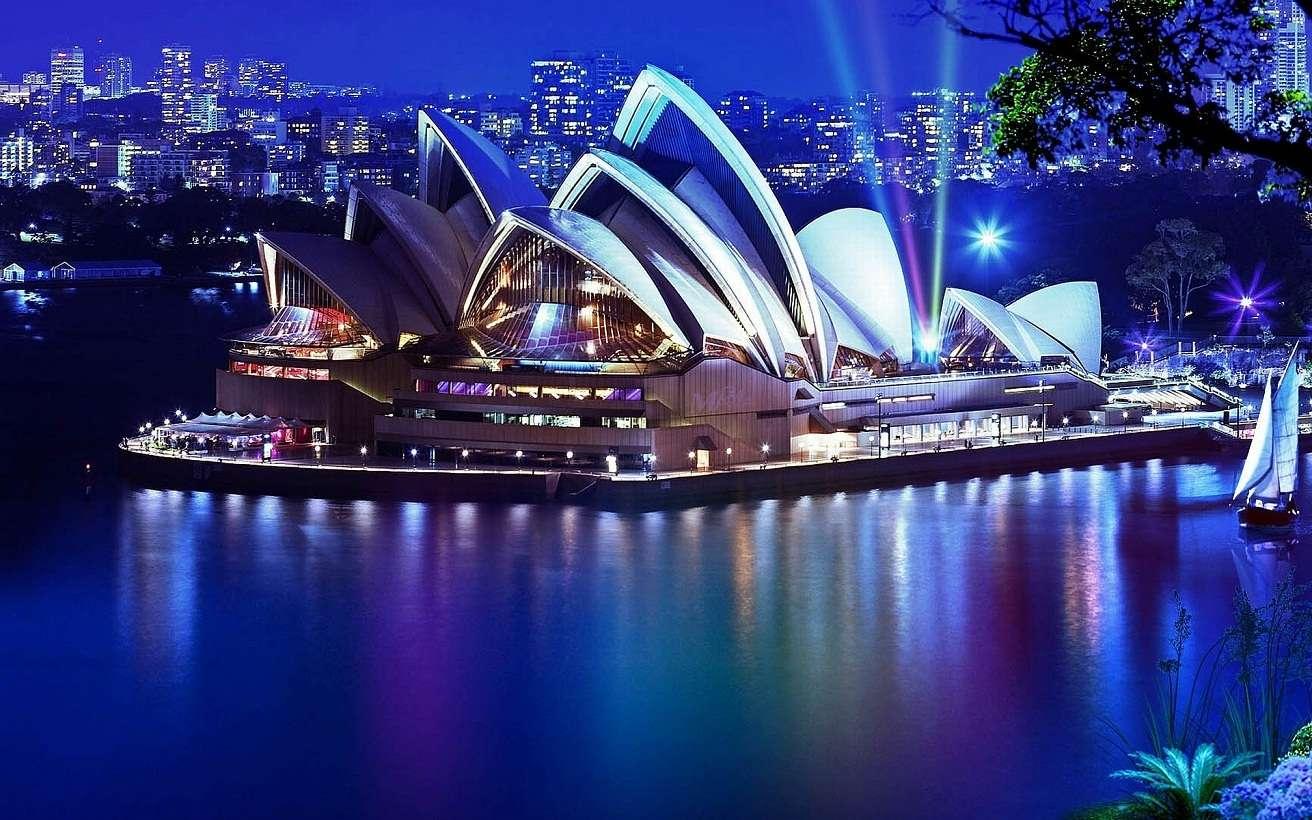 Ngắm toàn cảnh thành phố Sydney về đêm