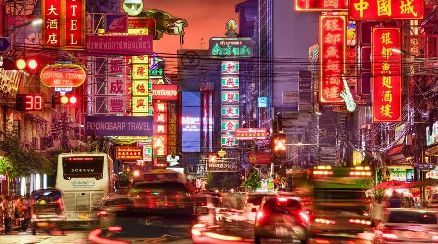 Khu China Town nhộn nhịp