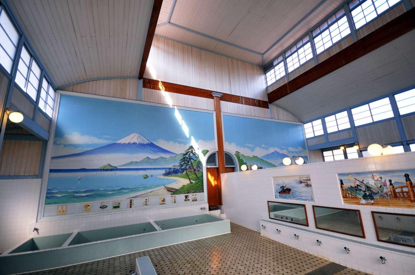 Bên trong một nhà tắm Sento