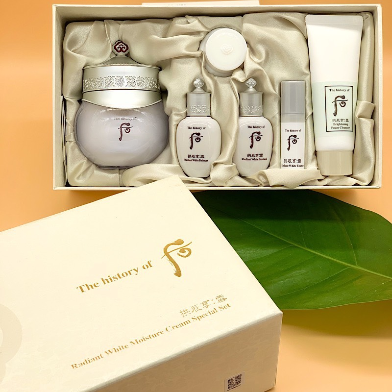 WHOO - SET DƯỠNG TRẮNG - RADIANT WHITE MOISTURE CREAM SPECIAL SET